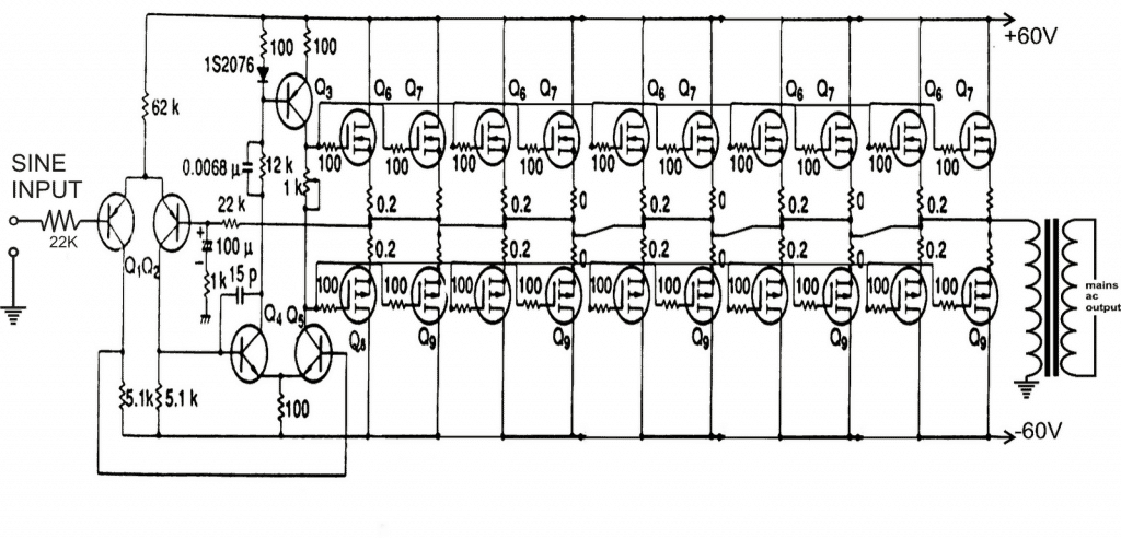 parallel connected mosfets example circuit