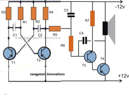 Dual tone siren circuit diagram