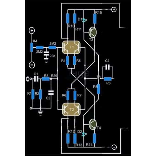 250 Watt MosFet Amplifier Circuit