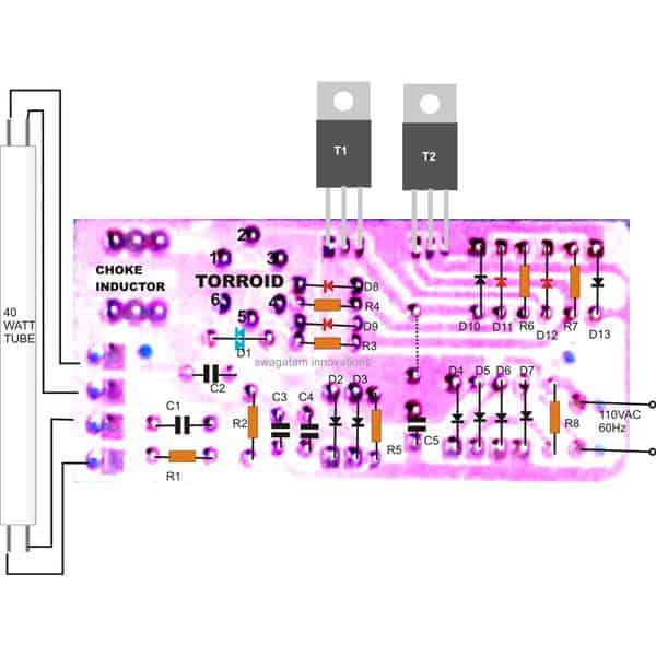 1 5 40 watt electronic ballast circuit choke wiring diagram for merc 225 carb at beritabola.co