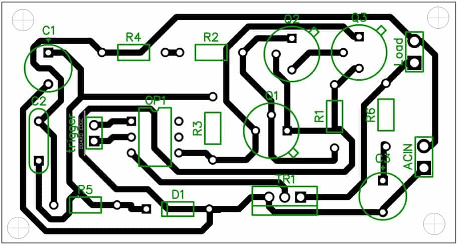 SSR electronic relay circuit