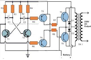 make 50 watt inverter circuit