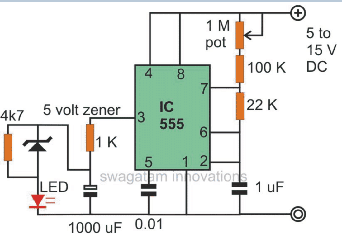 555 1 2 make interesting flasher and fader led circuits using ic 555 3 pin led flasher relay wiring diagram at soozxer.org