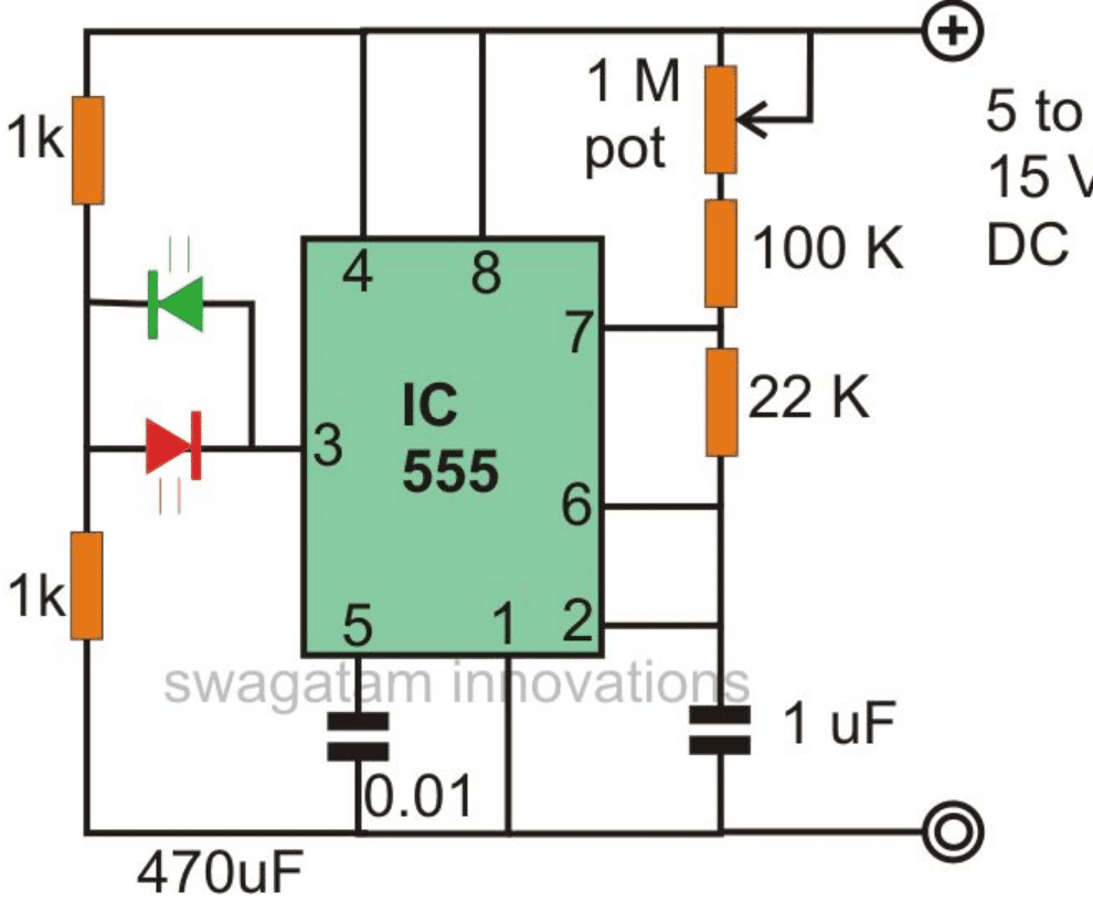 555 5 2 make interesting flasher and fader led circuits using ic 555 alternating flasher wiring diagram at panicattacktreatment.co