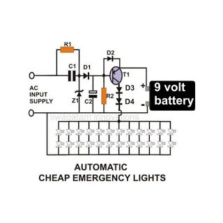 Automatic Emergency Light2C Circuit2C Image transformerless led emergency light circuit emergency light remote head wiring diagram at crackthecode.co