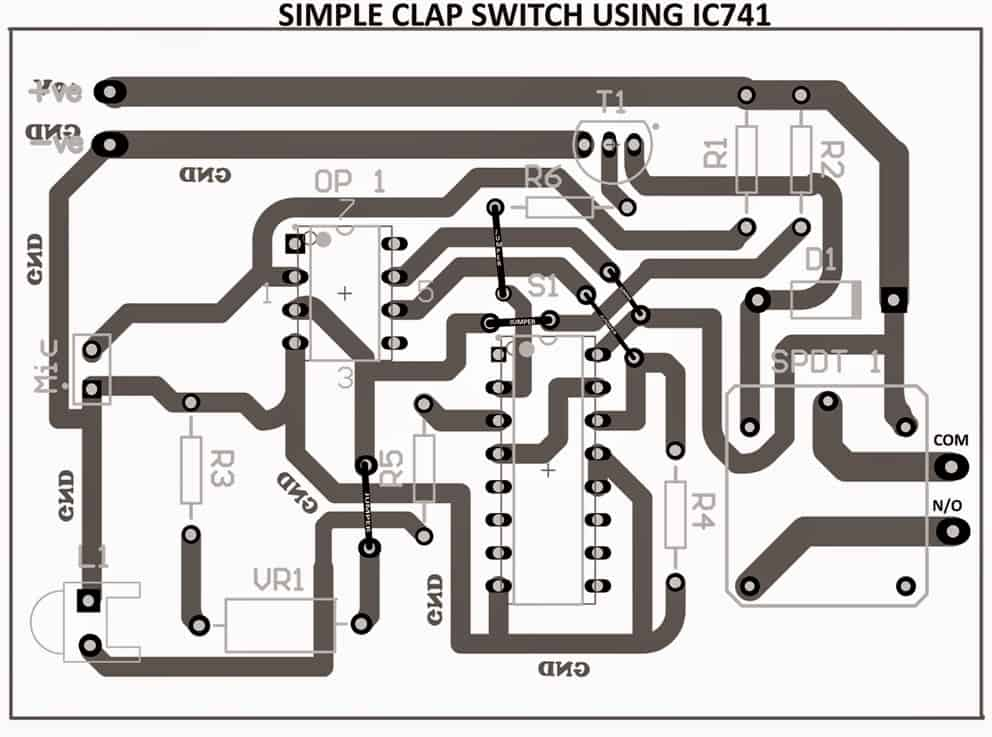 4 Simple Clap Switch Circuits Using Transistors Opamp