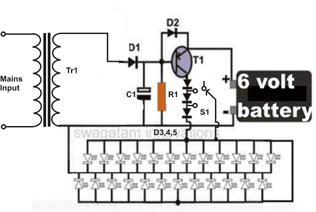 LED Emergency Light Circuit