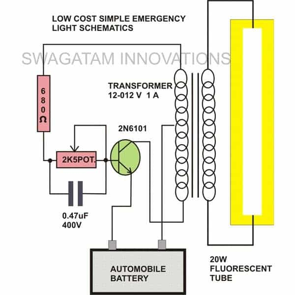 EmergencyLightSchematics 20 watt tubelight emergency light circuit diagram led tube light wiring diagram at webbmarketing.co