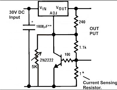 LM 317 Current Limit Circuit
