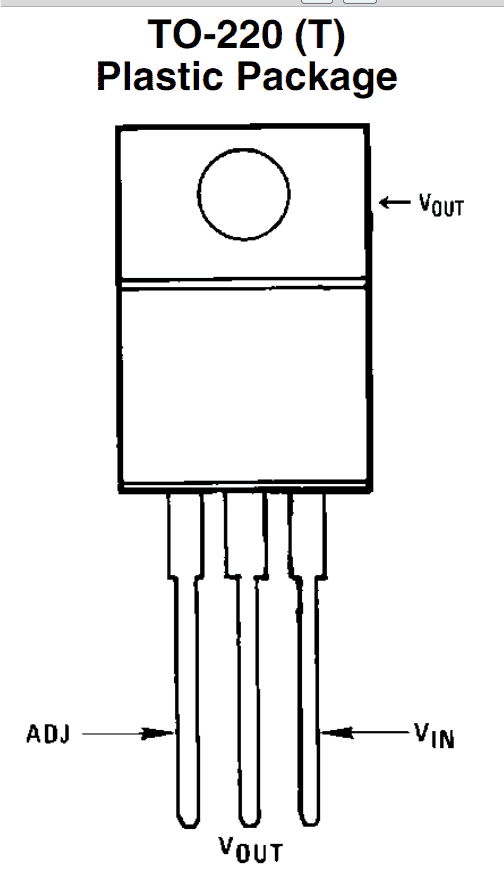 LM317 IC pinout specifications TO-220
