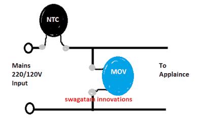 AC 220V/120V Mains Surge Protector Circuits