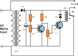 Mains Over Voltage and Under Voltage Cut of Circuit Explained