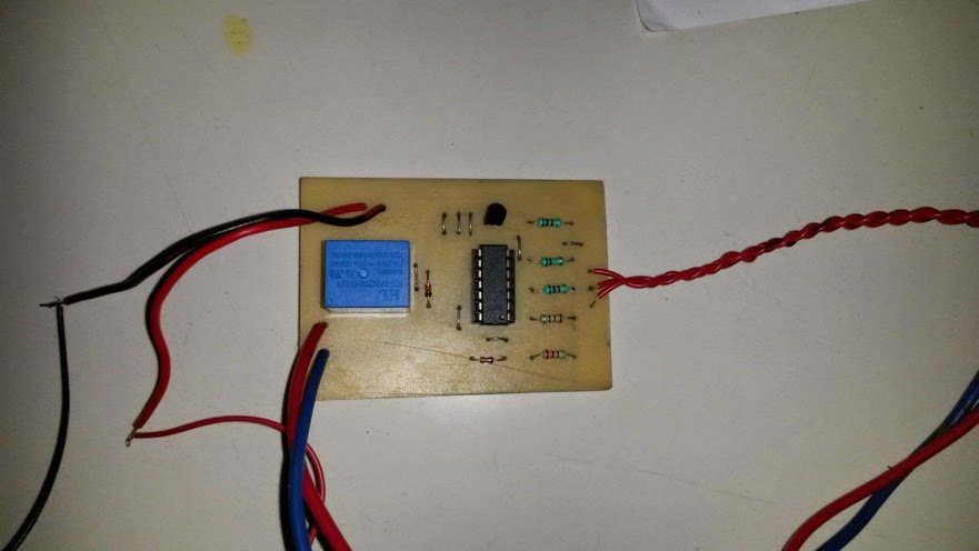 Front view PCB for water level controller assembly design