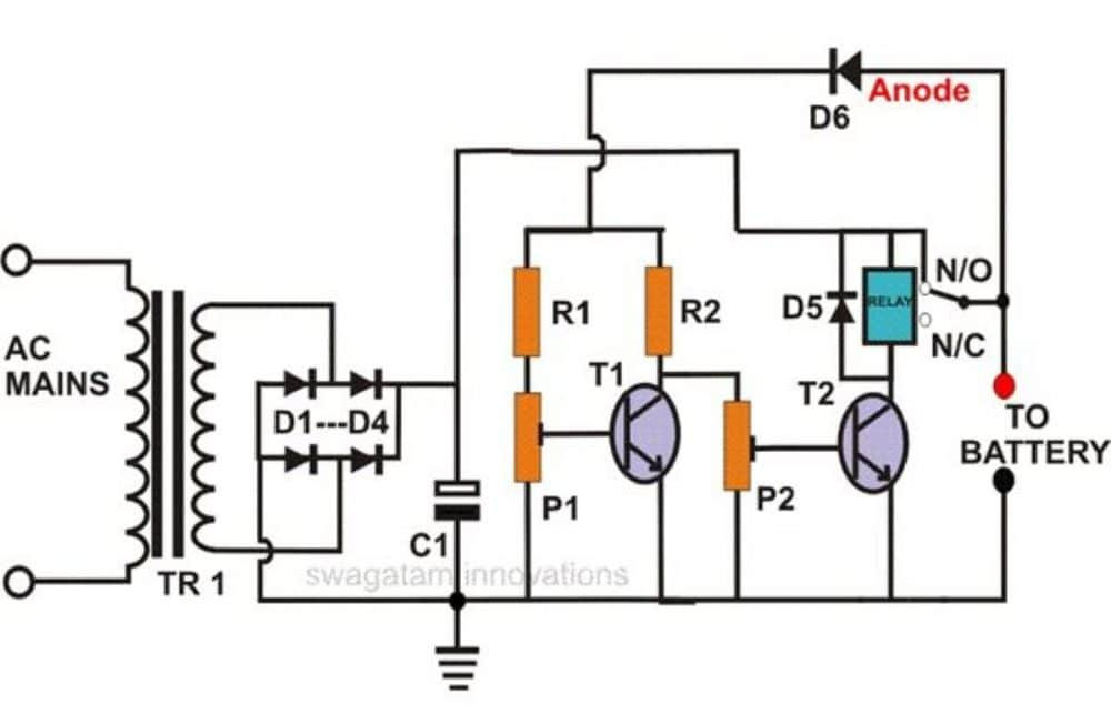 SelfRegulatingBatteryChargerCircuitDiagram252CImage self regulating lead acid battery charger circuit Battery Charger Schematic Diagram at suagrazia.org