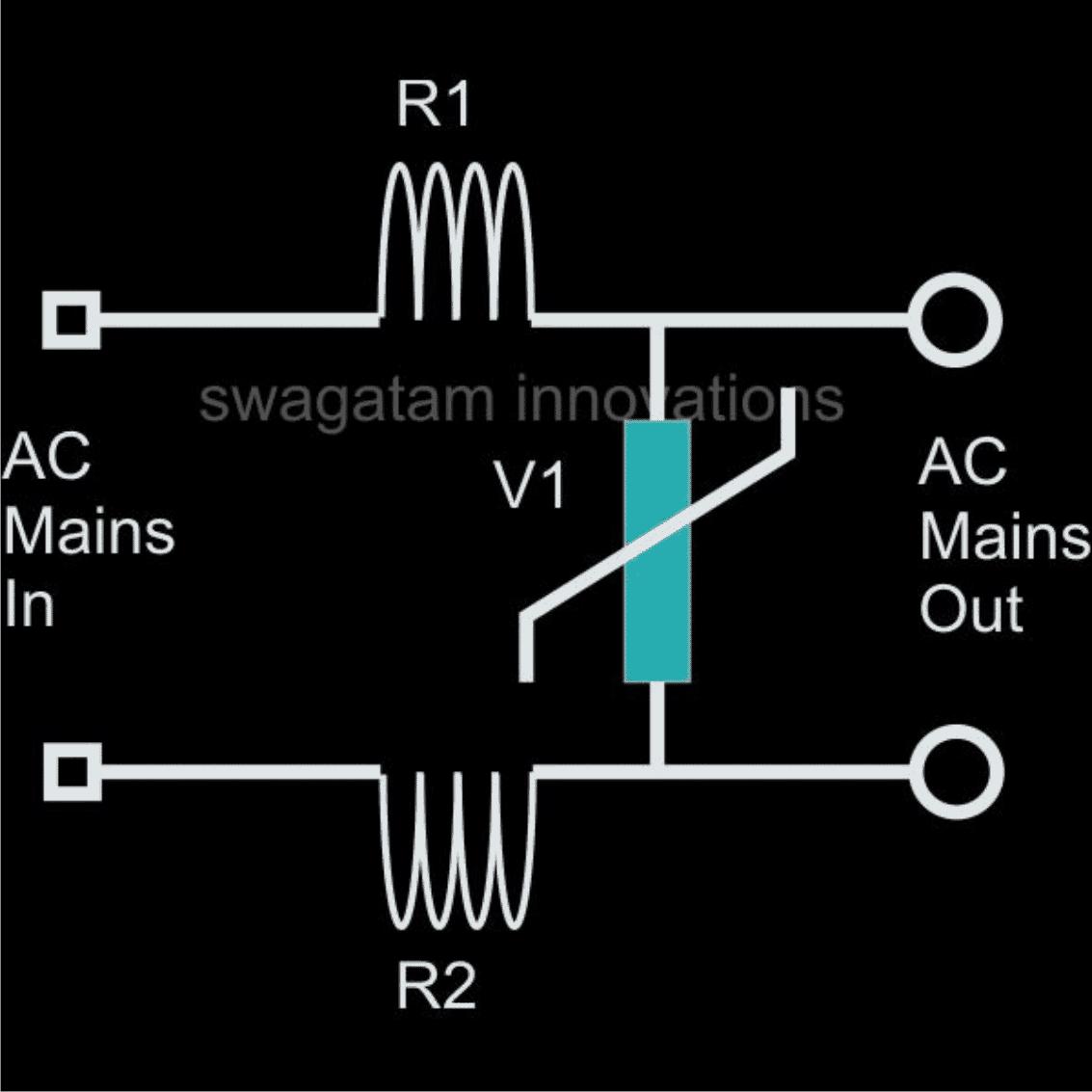 inductor MOV based surge suppressor