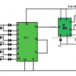 How to Make a Simple Reverse Forward LED Light Chaser Circuit Using IC 4017