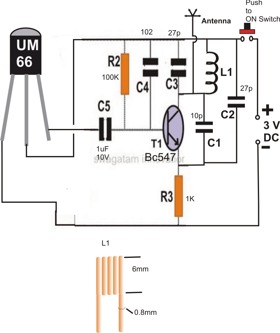 Simple Fm Transmitter Circuit Diagram 37 Wiring Images 250mw Audio Amplifier Electronic Circuits And Diagramelectronics 2 Remote Control Using A Radio At