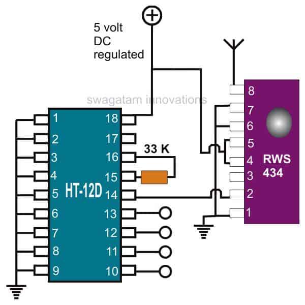 433 MHz Receiver(Rx)Circuit Description