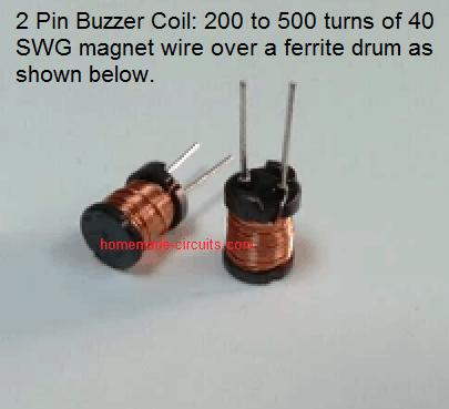 2 pin buzzer coil
