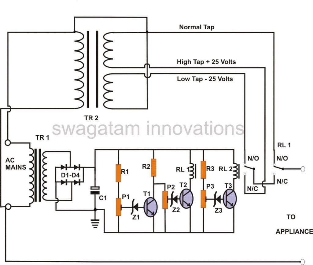 Electrical Wiring Diagram Of Building : How to build a stage mains power stabilizer circuit