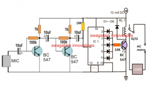 4 Simple Clap Switch Circuits using Transistors, Opamp, and IC 555