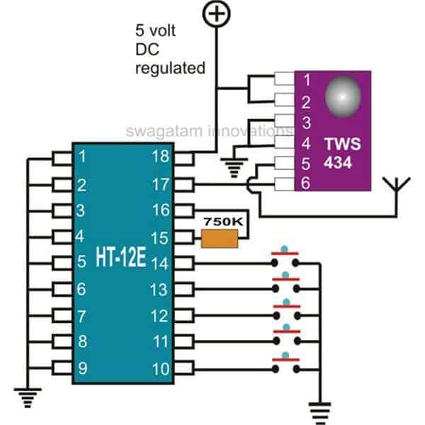 433MHz Transmitter (Tx)Circuit Description