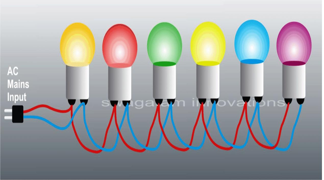 decoration string light 220V using 1 watt LED bulbs