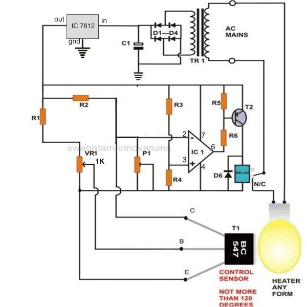 opamp incubator control with hysteresis