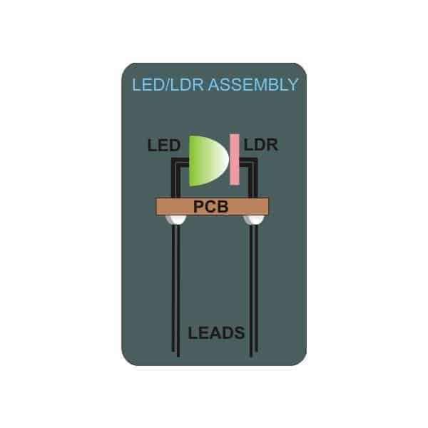 LED LDR optocoupler circuit design