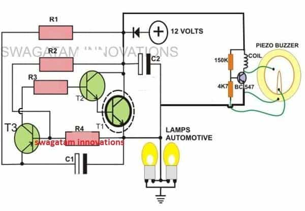2-Pin Motorcycle Turn Signal Indicator with buzzer