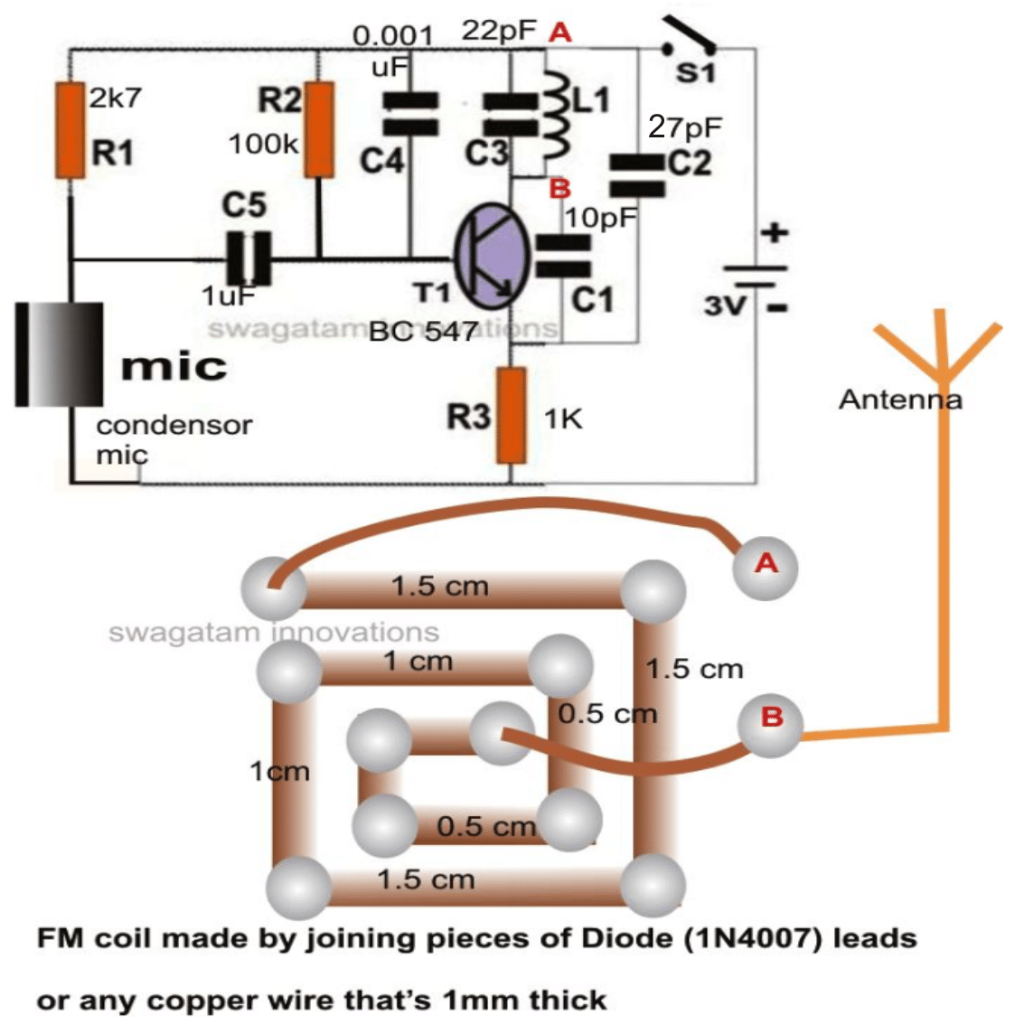 FM Wireless Microphone Circuit and Functioning