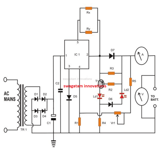 constant current battery charger Circuit Diagram