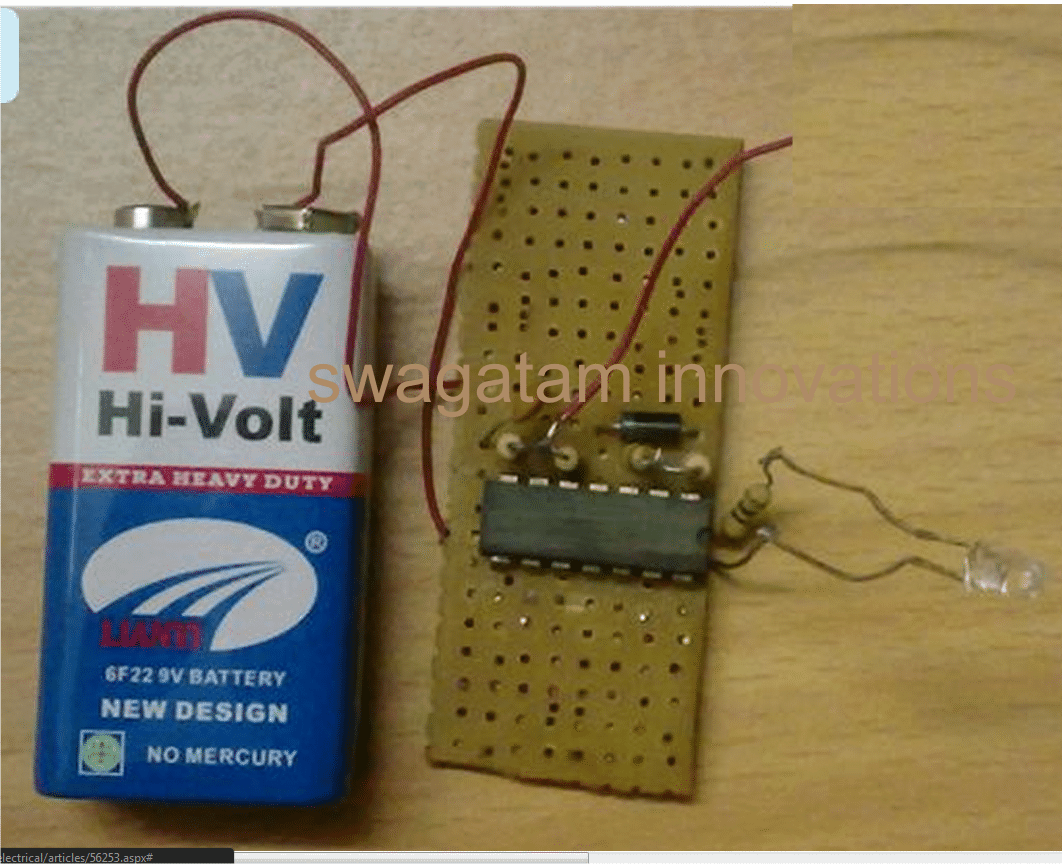 Non Contact AC Phase Fault Detector prototype image