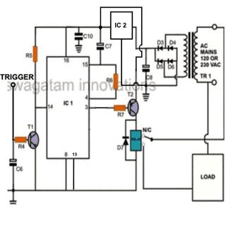 flip flop relay circuit using IC 4017