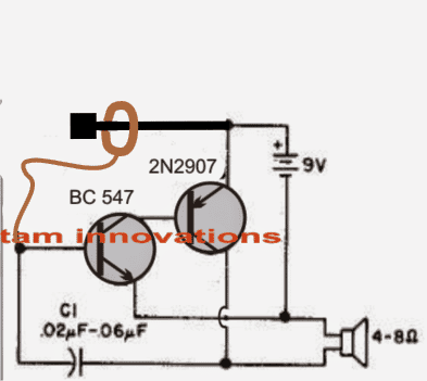 Hand Stability Tester circuit
