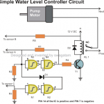 Automatic Water Level Controller circuit