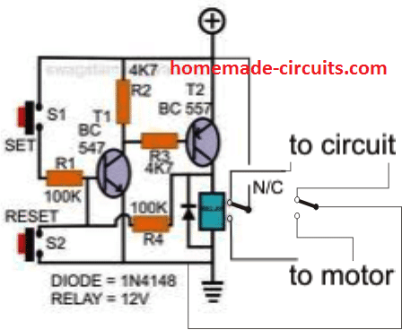 Set/Reset transistors circuit