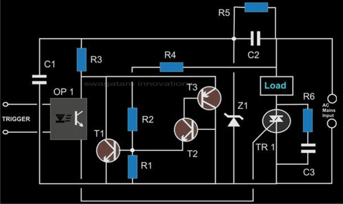 solid state relay circuit using triacs and zero crossing ... siemens solid state relay circuit diagram