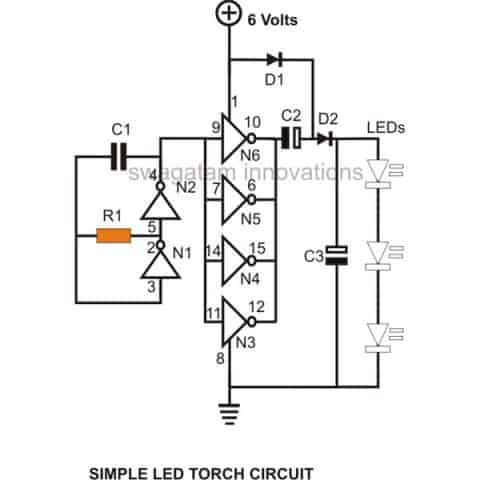 Led Torch Wiring Diagram