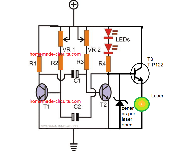 laser pointer strobe light circuit