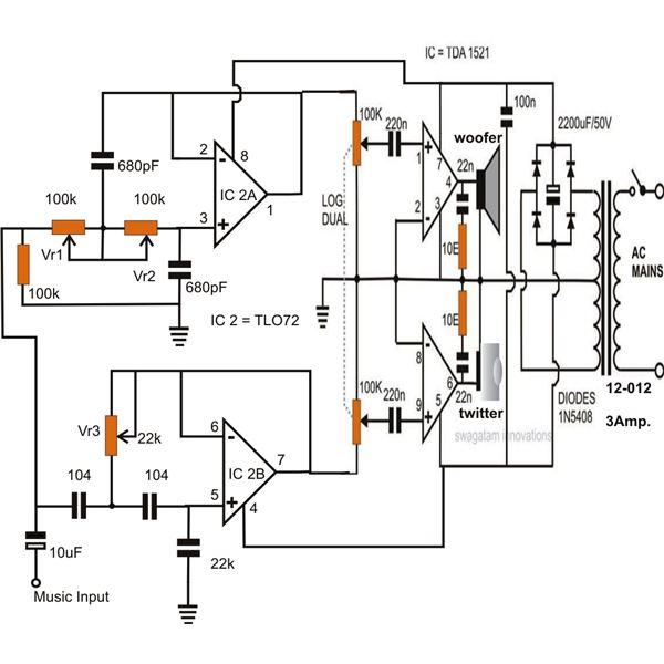 how to make active loudspeaker circuit