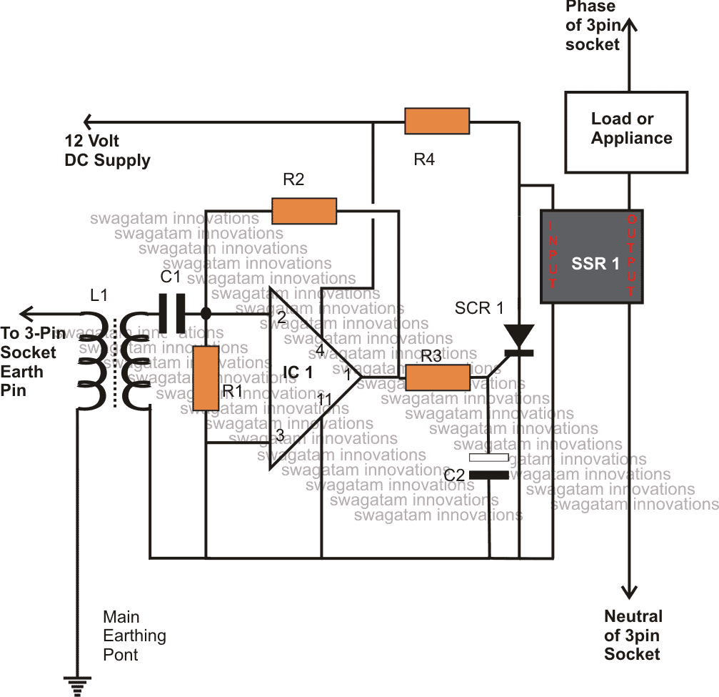 ELCB Circuit Using a Triac