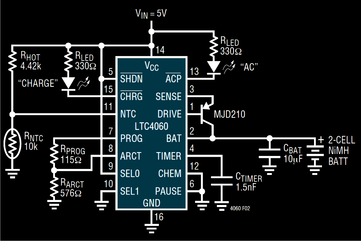 Precision Ni-Mh, Ni-Cd charger circuit.