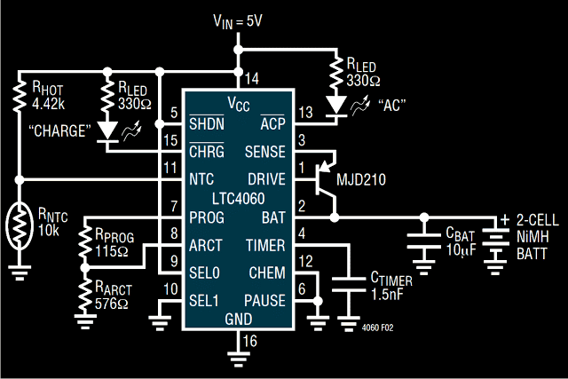 NiMH, NiCd Battery Charger Circuit