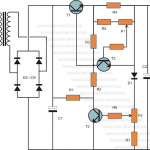 Variable Voltage, Current Power Supply Circuit Using Transistor 2N3055