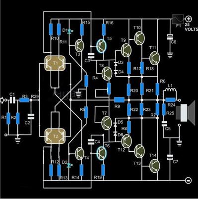 Hi-Fi 100 Watt Amplifier Using 2N3055 Transistors - Mini ...