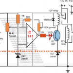 Simple Low Battery Indicator Circuit Using IC 741