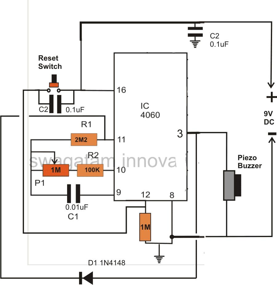 Simple Timer Circuit Using IC 4060