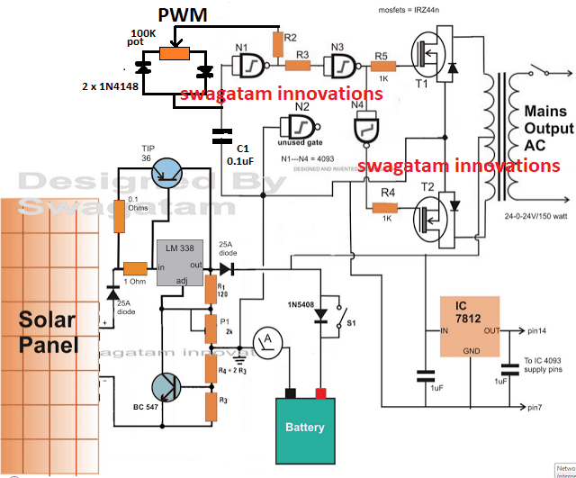 How to Make a Simple Solar Inverter Circuit