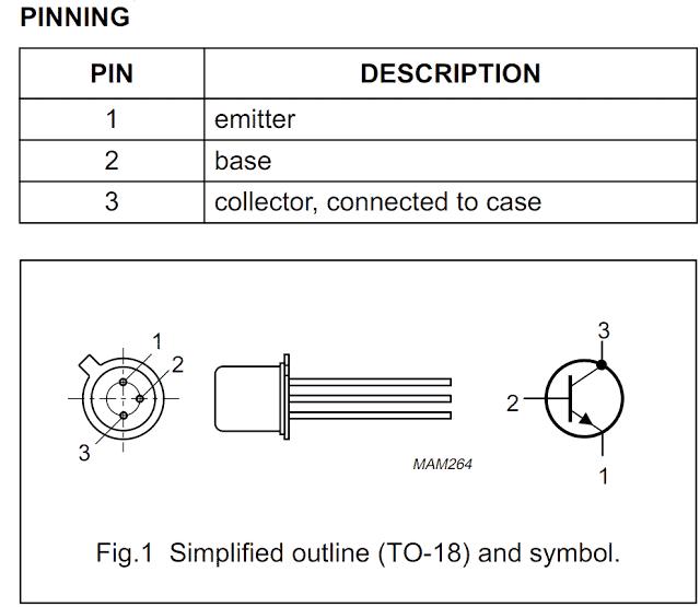 Transistor 2N2222, 2N2222A, 2N2907 Datasheet and Application Notes